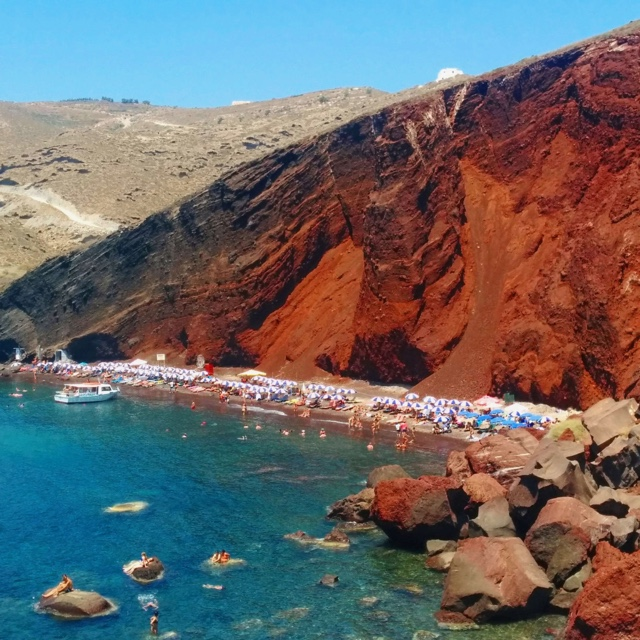 Akrotiri Red Sand Beach