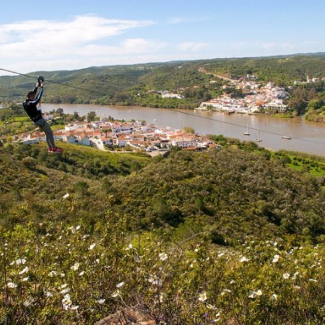 Zipline from Spain to Portugal