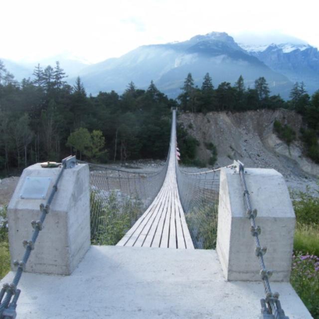 Bhutanese Bridge Over the Illgraben