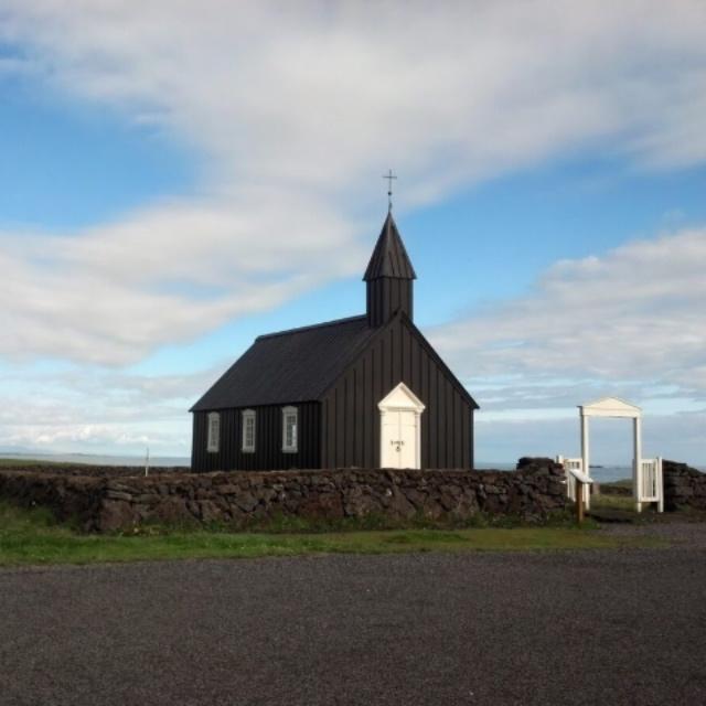 Búðakirkja - Black church