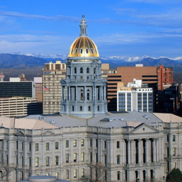 City Views from the Dome of the Colorado State Capitol