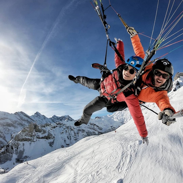 Paragliding Over the French Alps at Chamonix