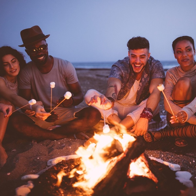 Beach Bonfire Party