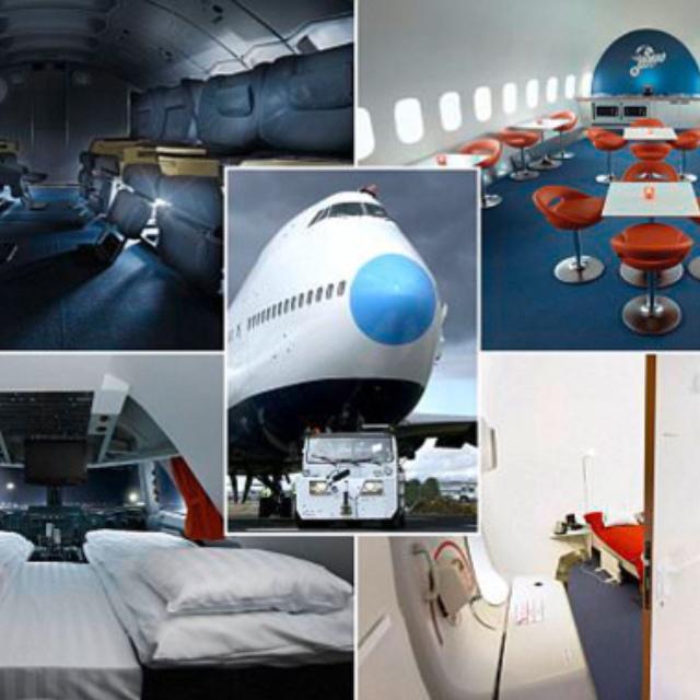 Sleep in a Jumbo Jet at the Arlanda Airport Hostel in Stockholm