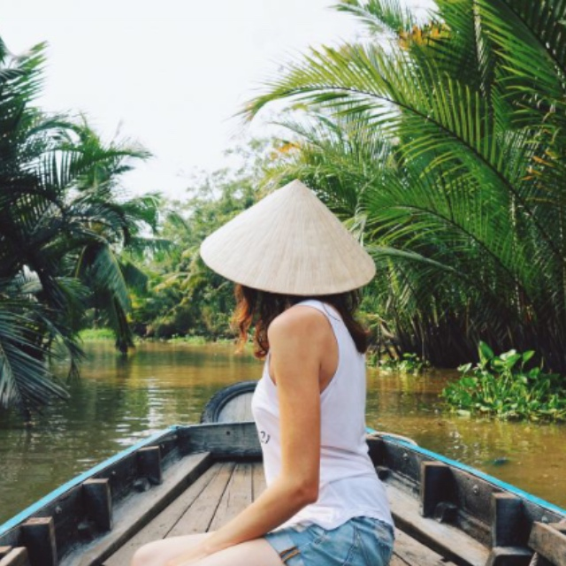 Sampan through the Mekong Delta