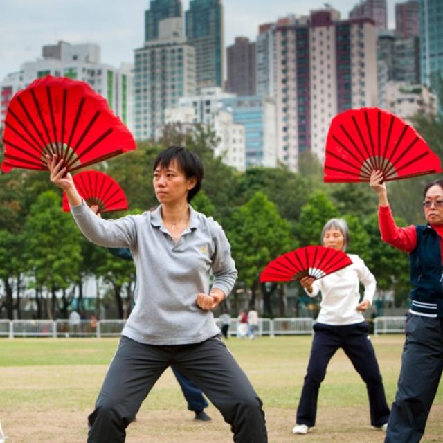 Attend a Tai Chi Class in a Park