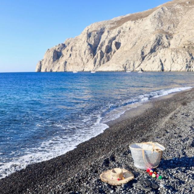 Kamari Black Sand Beach