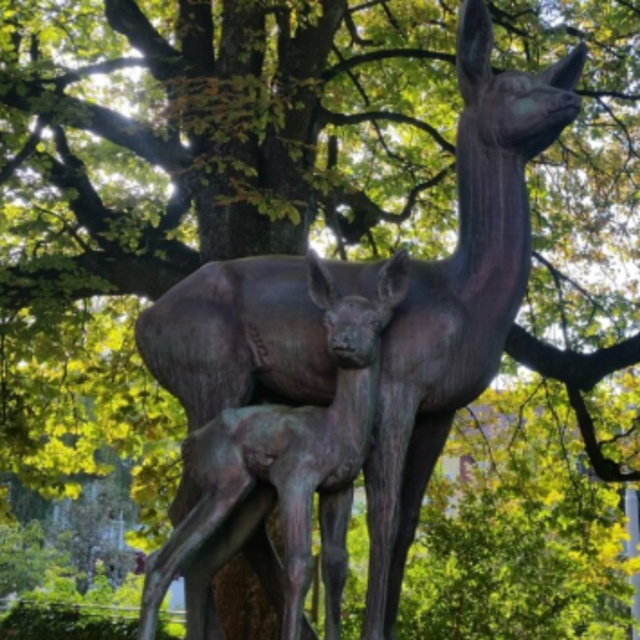 Bambibrunnen Bambi Fountain