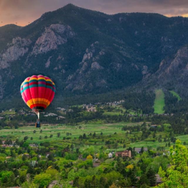 Hot Air Balloon Ride over the Rocky Mountains