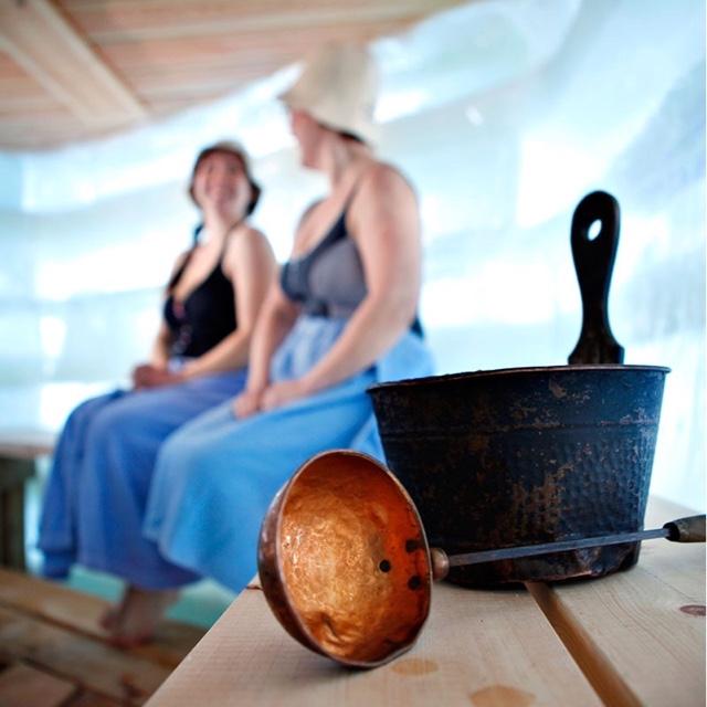 Relax in a Finnish Sauna