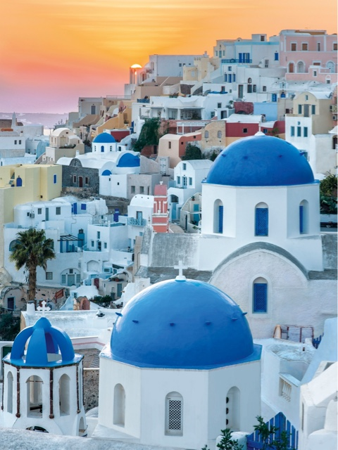 The Blue Domes of Oia