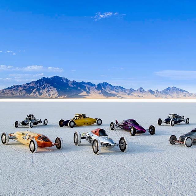 Race on Bonneville Salt Flats