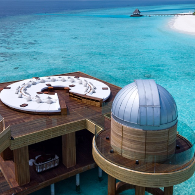 Stargazing from an Overwater Observatory