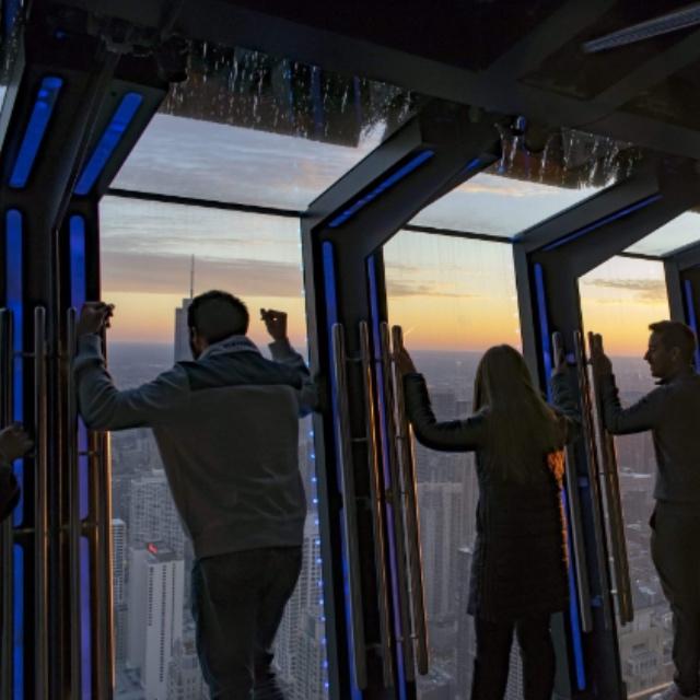 Tilt! Thrill Ride at 360 Chicago Observation Deck