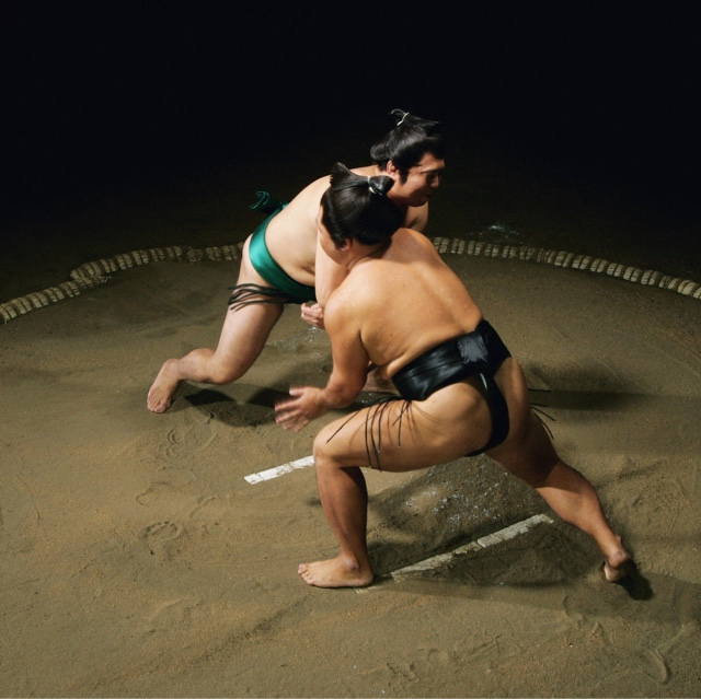 Watch Wrestling Practice at a Sumo Stable