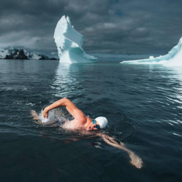 Swim Across an Arctic River Naked