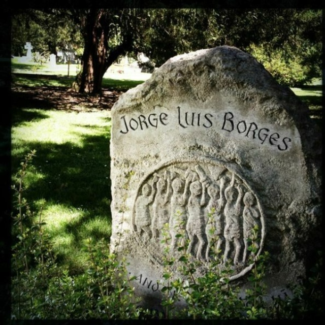 Gravestone of Jorge Luis Borges