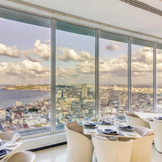 Enjoy the View from the 25th Floor Restaurant of Hotel Habana Libre