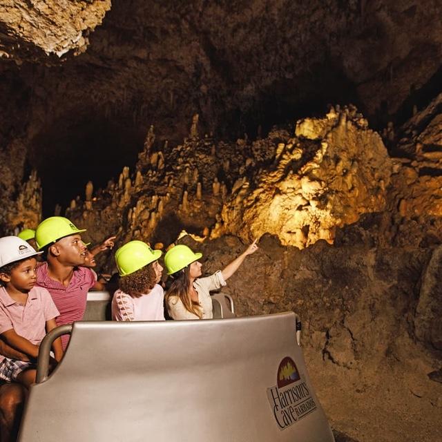 Take a Tram Ride through Harrison's Cave
