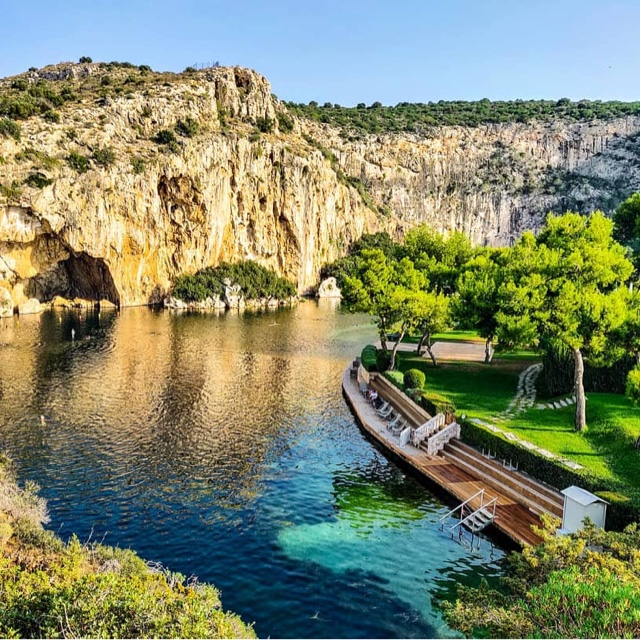 Explore the Underwater Caves of Lake Vouliameni