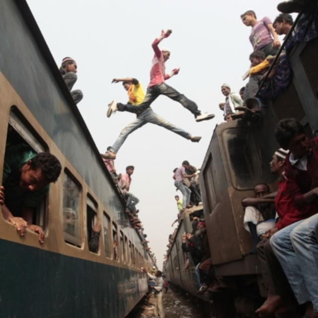 Jump onto a Moving Train