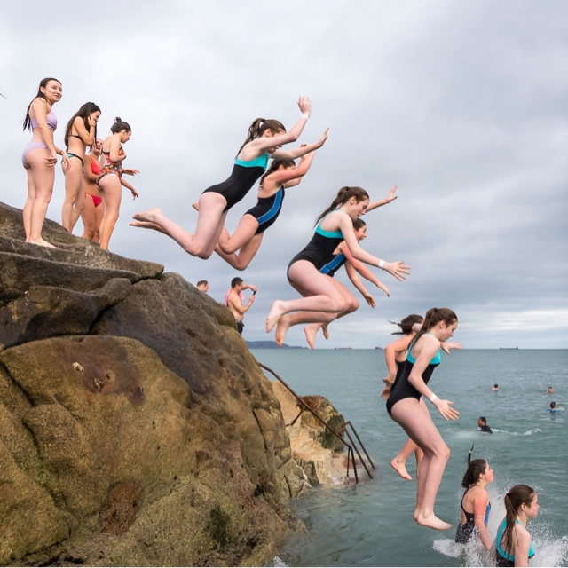Cliff Jump at the Forty Foot