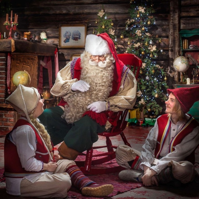 Meet Mr. Claus at Santa Park