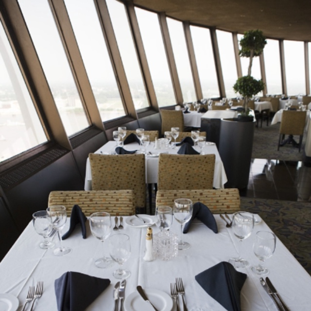Dine at Millennium Hotel's Top of the Riverfront Rotating Restaurant