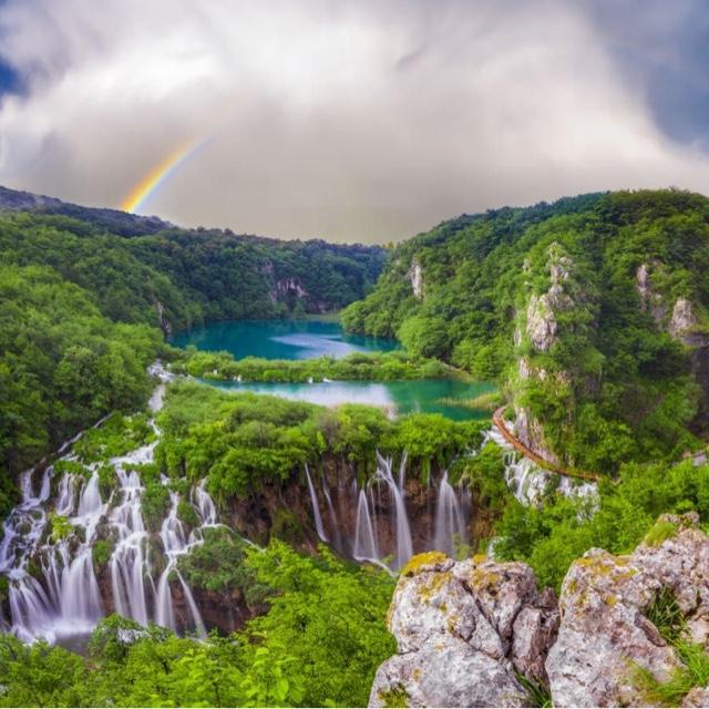 Waterfalls at Plitvice Lake