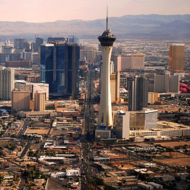 Dine at the Top of the World Restaurant in the Stratosphere Tower