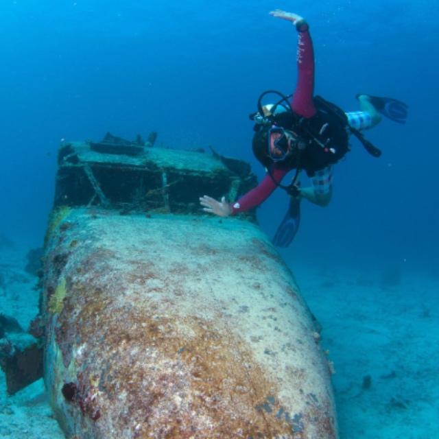 Scuba Dive the Airplane Wreck Site