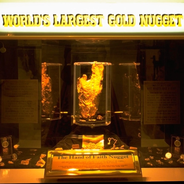See the World's Largest Golden Nugget
