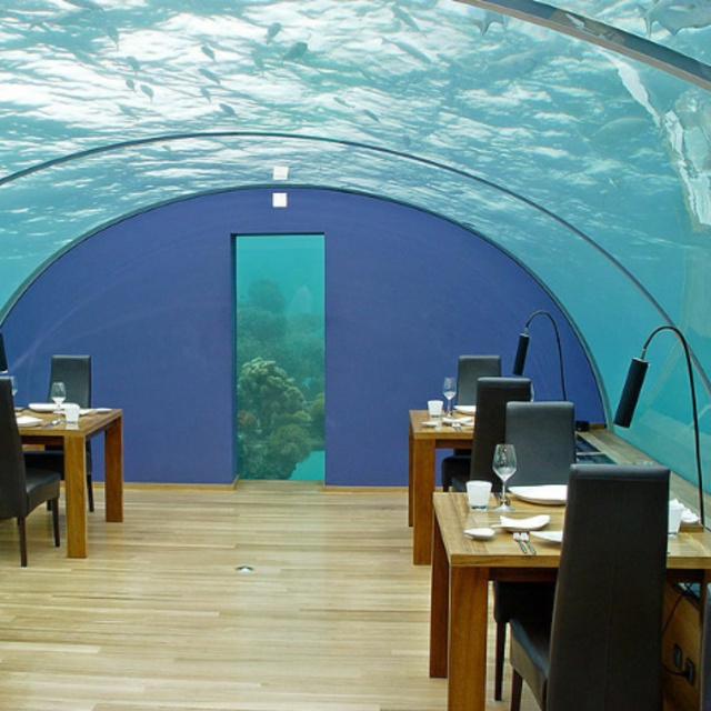 Dine at the Ithaa Undersea Restaurant
