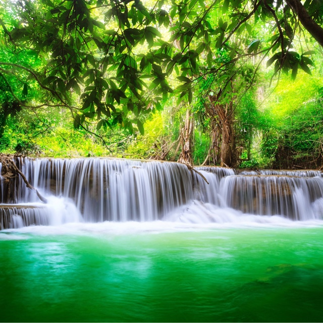 Visit Erawan Falls