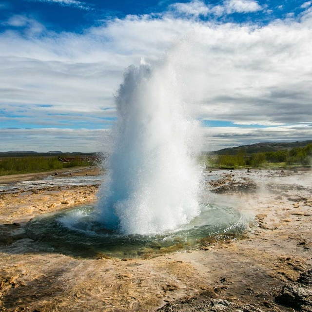 Watch the Strokkur Geyser Erupt