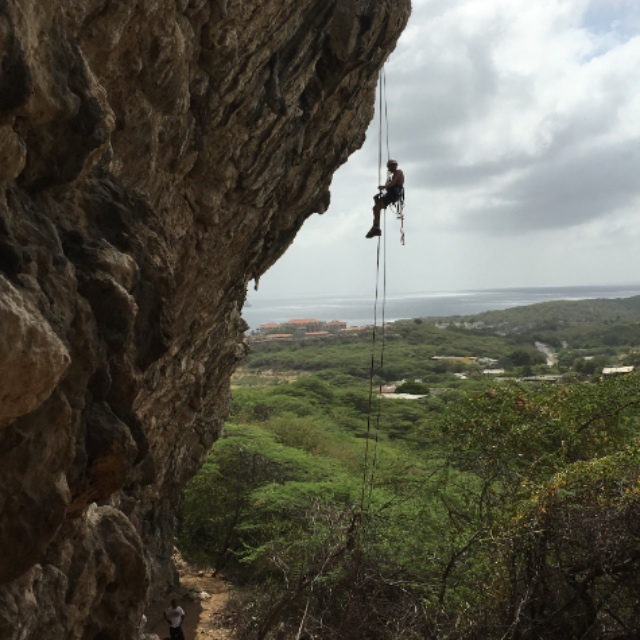 Rappelling and Rock Climbing