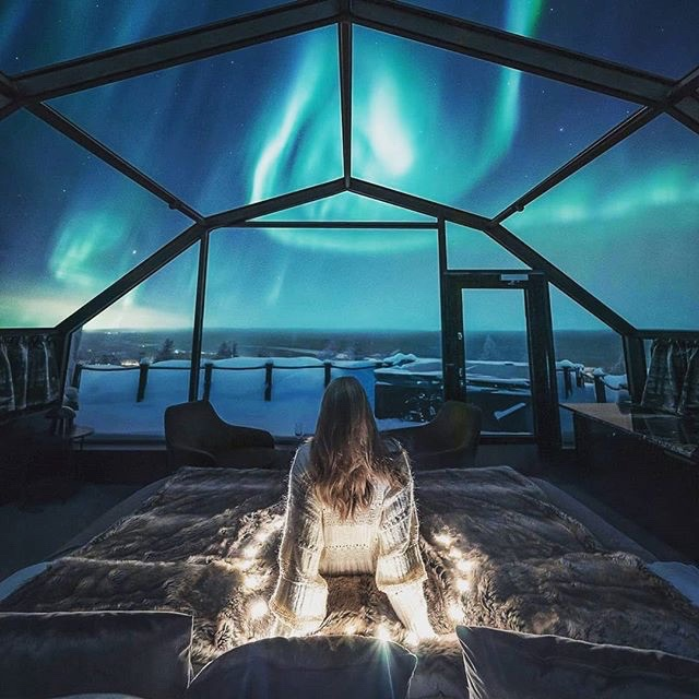 See the Northern Lights from an Ice Igloo