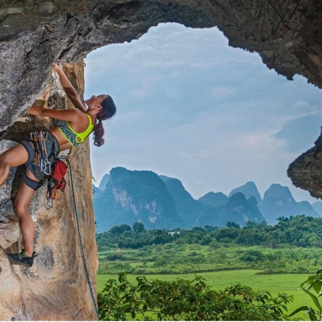 Rock Climb an Ocean Cliff in Long Dong
