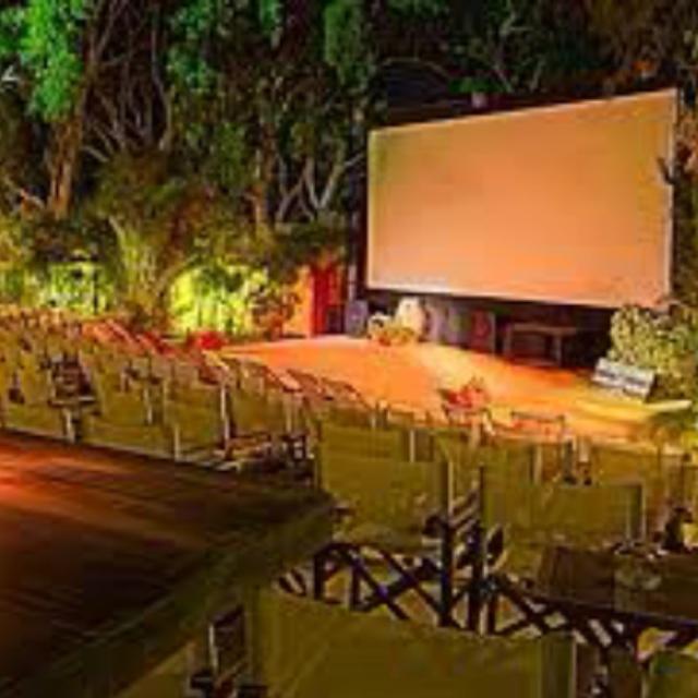 See a Movie in a Open Air Cinema