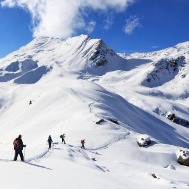 Snowshoe in the Stubai Alps