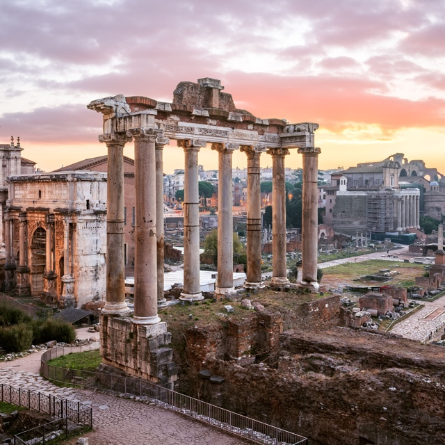 Visit the Ancient Ruins at the Roman Forum