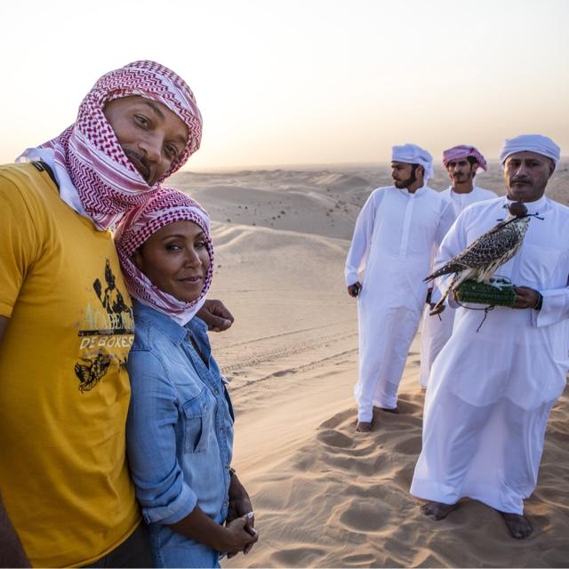 Fly Falcons in Dubai