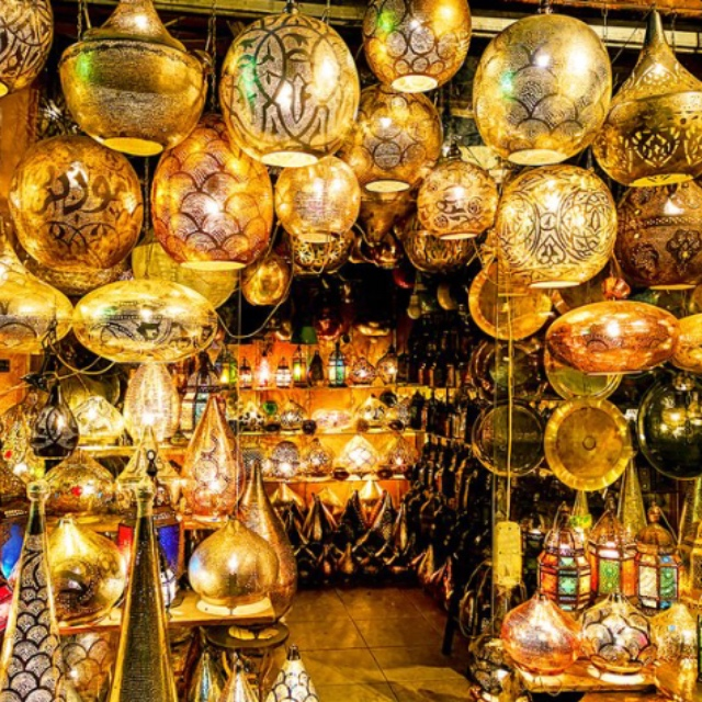 Shop at the Khan El Khalili Street Bazaar