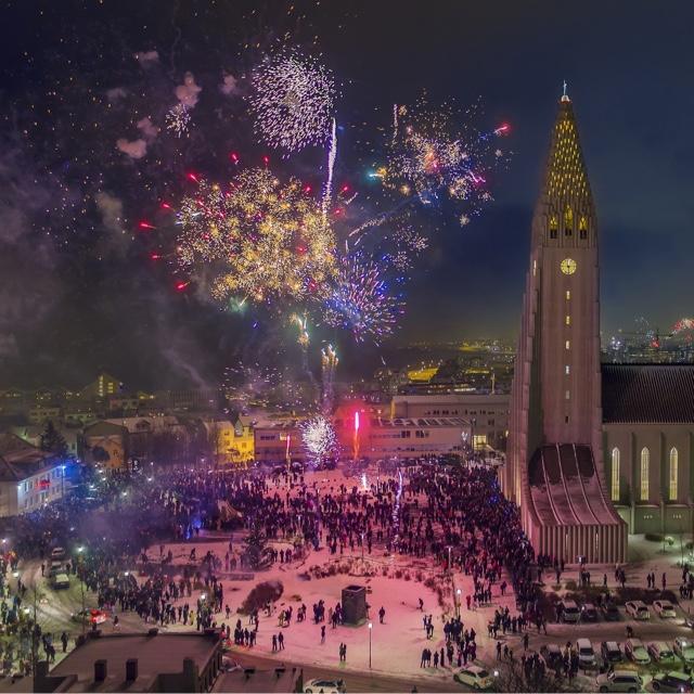 Celebrate New Year's Eve in Reykjavik