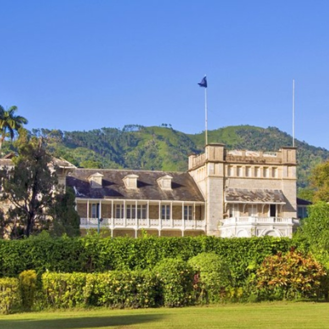 Presidential Palace in Port of Spain in Trinidad